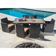 niko 7 piece patio dining set by sirio