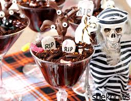 chocolate pudding haunted graveyard we u0027re not afraid to eat you