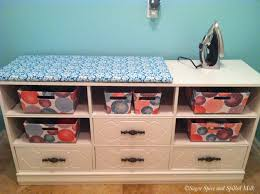 Repurpose Changing Table by Sugar Spice And Spilled Milk Dresser Repurpose For Laundry Room