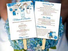 jar wedding programs rustic wedding fan program template jar ceremony program