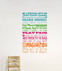 childrens wall decor playroom rules wall decal childrens zoom