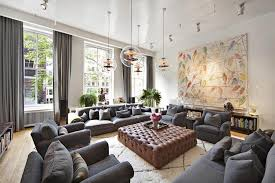 livingroom soho on the market a fashion designer s bright soho home denim sofa