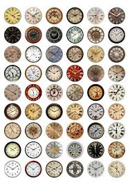 printable antique clock faces clock faces printable 1 inch circles bottlecap images vintage