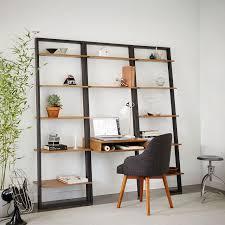 Container Store Leaning Desk Ladder Desk With Shelves Shelves Ideas