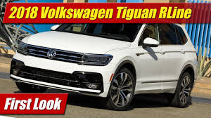 volkswagen suv 3 rows 2018 volkswagen tiguan r line first look youtube
