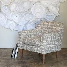 Gray And White Accent Chair Home Furniture Living Room Accent Chairs