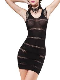 tight dress 2018 fishnet fitted tight dress black one size in
