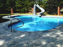 inground and above ground swimming pool slides homelk com