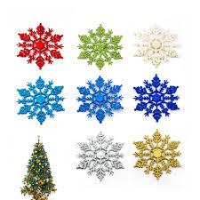 snowflake ornaments 12 pcs set sparkling christmas acrylic snowflake ornament