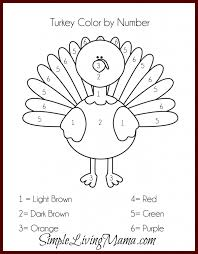 thanksgiving activities for kids free printable color by number