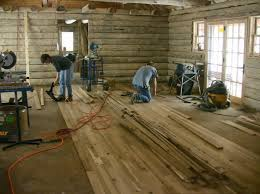 log cabin floors building your home with your own wood