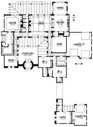 U Shaped House With Courtyard Modern House Plans Courtyard Pool Mediterranean With Int Hahnow