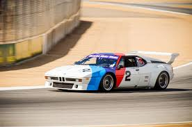 bmw car race the one racing the mid engine bmw m1 supercar at mazda raceway