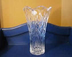 Cobalt Blue Crystal Vase Large Crystal Vase Etsy