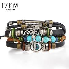 leather bracelet woman images 17km punk design turkish eye bracelets for men woman new fashion jpg