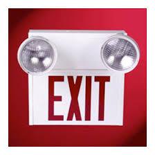 sure lites emergency lights sure lites self powered incandescent stencil face red letters steel