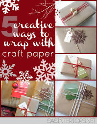 5 creative ways to wrap with craft paper jenna burger