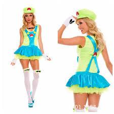Halloween Costumes Luigi Halloween Costumes Women Super Mario Brothers Fancy