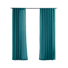 Drapery Panels 96 Shop Solaris Canvas Solid 96 In Teal Polyester Back Tab Light