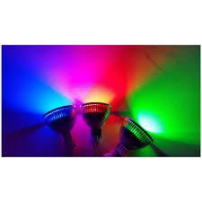 12v gu5 3 mr16 blue colour led lamp eurotech lighting nz