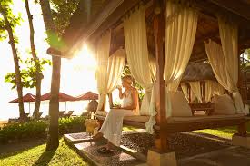 fashion designer decorated pool cabanas at resorts around the