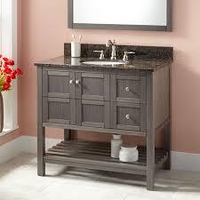 Modern Vanities For Bathroom by Gray Sleek Vanity Signature Hardware