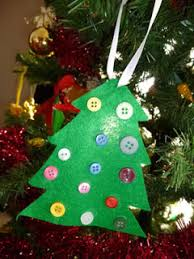 make a felt u0026 button christmas tree ornament craft easy craft for