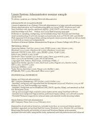 Admin Resume Examples by It System Administrator Resume Sample Free Resume Example And