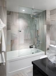 Glass Doors For Tub Shower Best Half Door On Tub Houzz Pertaining To Glass Door For Bathtub