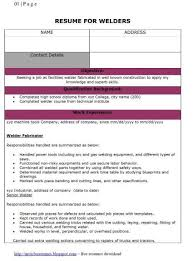 Welder Resume Sample by Fresh Jobs And Free Resume Samples For Jobs Resumes For Welder Jobs