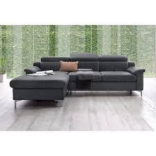 canapé d angle gris canapé angle fixe méridienne droite ou gauche en toile effet