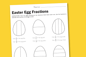worksheet wednesday easter egg fractions paging supermom