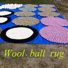 Wool Ball Rug Custom Diameter 50cm 80 100 150 200 Chinese Handmade 100 Wool