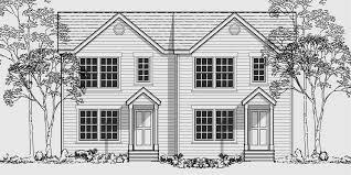 multi family sloping lot plans hillside plans daylight basement
