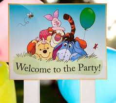 winnie pooh printable birthday party sign disney baby