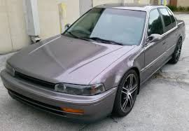 my 92 accord just after getting painted with 18 inch rims lowered