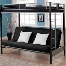 Futon Bunk Bed Wood Wood Bunk Bed With Futon Couch Home Design Ideas