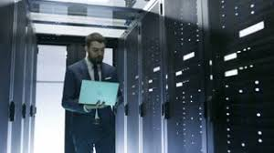 data center servers blackout in data center switching off servers stock video footage