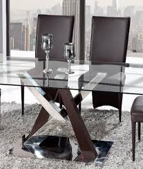 global furniture dining room sets dining 5pc set glass top by global w d6605dc br chairs