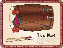 make a dhol drum from india kids craft tiny tapping toes
