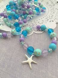 party favor bracelets mermaid party favor starfish kids jewelry bracelet set of ten