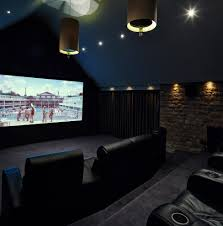 Movie Theater Home Decor by Decor Home Cinema Home Theater Traditional With Wood Red Leather Chair