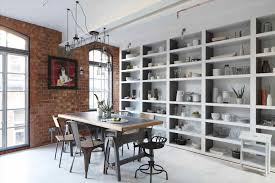 industrial warehouse loft apartment kitchen home design