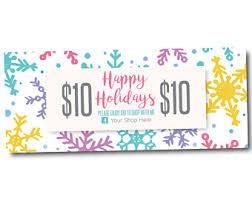 holiday coupon coupon etsy