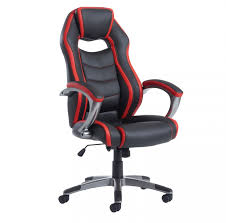 Leather Desk Chair by Black And Red Leather Office Chair