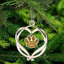 i am blessed paw print ornament the animal rescue site
