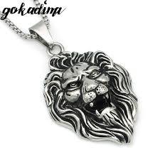 aliexpress buy gokadima 2017 new arrivals jewellery gokadima fashion anniversary silver color men necklace lion shape