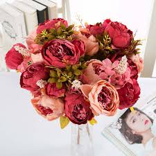 Peonies Bouquet Compare Prices On Purple Peonies Bouquet Online Shopping Buy Low