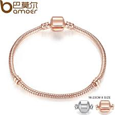 rose gold color bracelet images 2018 pandora style rose gold color silver snake chain bracelets jpg
