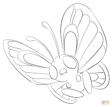 butterfree coloring page free printable coloring pages
